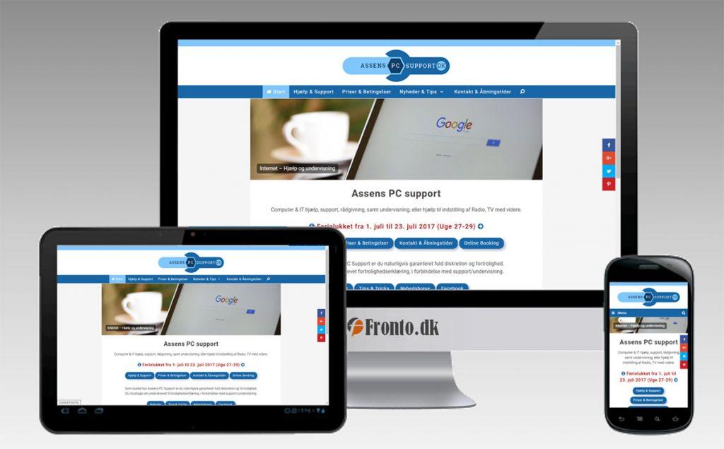 AssensPCsupport.dk - Responsive Web Design